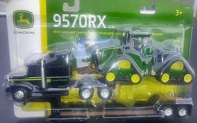 New! 1/64 John Deere 9570RX track tractor with lowboy semi by Ertl, nice