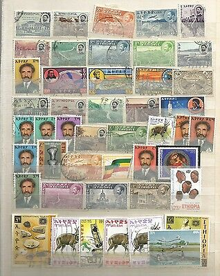 Album Page Of Ethiopia Stamps