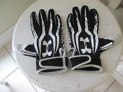 Youth Under Armour Batting Gloves Black and White..