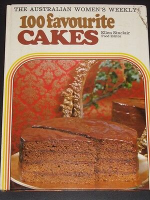 Womens Weekly Retro VINTAGE 100 Favourite cakes cookbook recipe chef