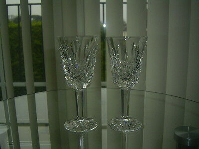 2  Waterford Crystal Lismore Sherry / Port Glasses First Quality