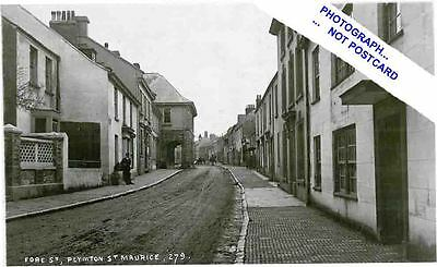 PLYMPTON- St MAURICE- FORE STREET HOUSES & GUILDHALL--DEVON.