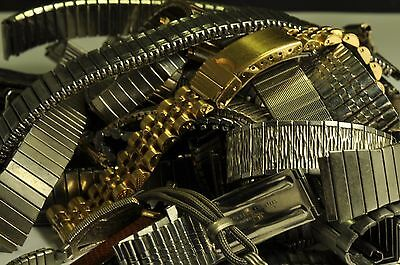 30 pieces of Antique/vintage Might Gold Filled/plated Metal wrist watch bands