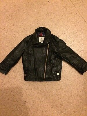 River Island Baby Girls Faux Leather Jacket 12-18m
