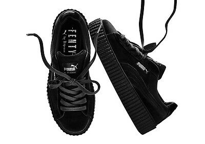 RIHANNA X PUMA CREEPER BLACK VELVET Size 6-10 IN STOCK