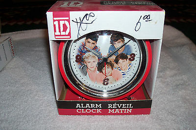 New One Direction 1D Alarm Battery Clock Collectible