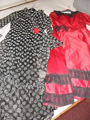 Ex Stage Costumes - Fancy Dress 2 Spanish Style Dresses Med Size