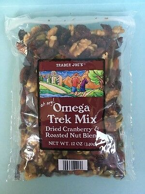 Trader Joe's Omega 3 Trail Mix- Cranberry, Almond, Walnut, Pumpkin Seeds, Pecan