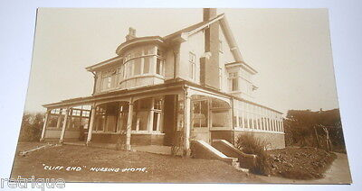 Vintage Postcard, CLIFF END NURSING HOME, Possibly HASTINGS AREA. Real Photo