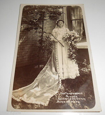 OLD RP Postcard, The Temperance Queen OAKDALE MISSION, Band of Hope, J HODGSON