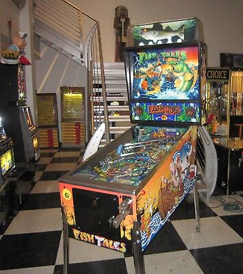 Fish Tales Pinball Machine By Williams ~ Beautiful Restored Game ~ Led Upgraded