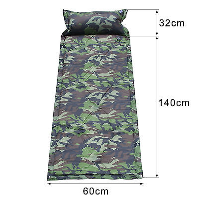 Camouflage Self Inflating Outdoor Camping Roll Mat Bed Sleeping Mattress Pad