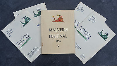 1938 Malvern Festival Brochure And 4 Programmes