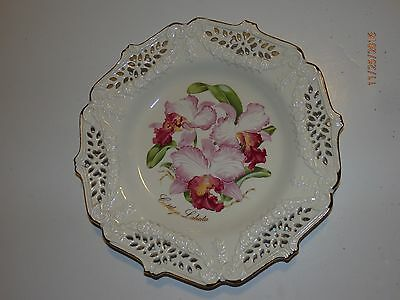 Crown Orchid Collector Plate Crown Davenport
