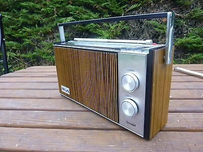 Vintage HMV Arundel Transistor Solid State 3 Band MW LW VHF Radio Working 1970's