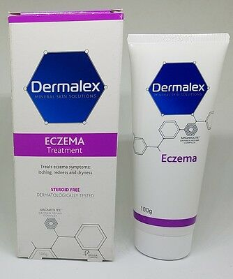 Dermalex Mineral skin Solution Eczema Symptoms itching rednes & dryness 100g