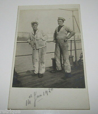 OLD Postcard, Painters, Possibly From HMS Ramillies Ship JAN 1920. SEE PICTURES