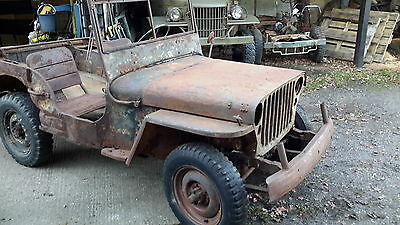 Willys jeep 1942 ww2 MB military vehicle barn find classic car