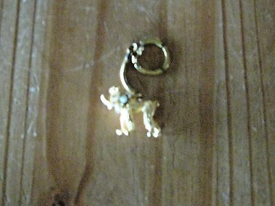 Poodle Key Ring, Gold Tone with Pearls