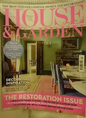 House & Garden Magazine February 2016 Interior Design Lifestyle
