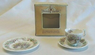 Royal Doulton Brambly Hedge Miniature Summer Teacup, Saucer & Plate Boxed
