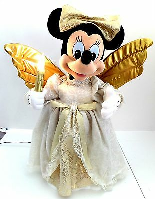"""Vtg Minnie Mouse Telco Motionette Disney Animated Angel 21"""" Tall"""