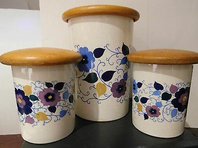 Vintage Mary Quant Design Crown Devon Storage Jars