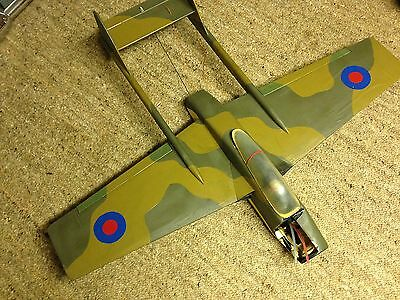 "RC Radio Controlled Aeroplane Aircraft Vampire Type 42"" Span Used"