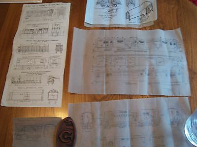 10 Wagons/Coach/Loco Plans - 4mm Scale Drawings