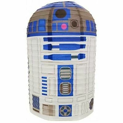 R2-D2 Official Star Wars Paper Ceiling Light Shade White Domed Lampshade