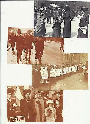 Emily Pankhurst and Suffragettes postcards
