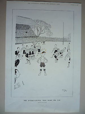 "Rugby. "" The International Who Wore His Cap "" 1928. Rare."
