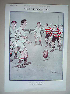 "Rugby. "" The Ball Complains "" 1928. Rare."