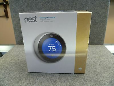 Nest 3rd Generation Learning Thermostat, T3007ES, New In Box.
