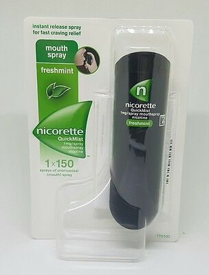 Nicorette Quickmist Spray Freshmint 150 Sprays Quit Smoking Free P&p