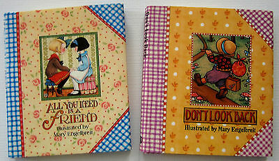 2 Mary Engelbreit Mini Books All You Need Is A Friend & Don't Look Back