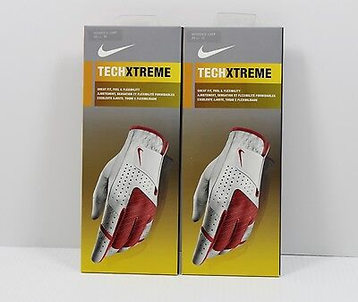 (2ea) Nike Golf Techxtreme Glove | Womens | Size Medium | 20cm Lefthand | Nwts