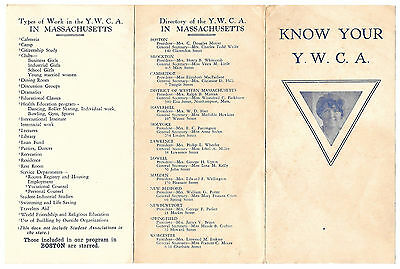 Know Your Y.W.C.A.  Massachusetts