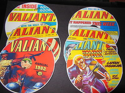 COMPLETE VALIANT UK COMICS COLLECTION & ANNUALS & SPECIALS on 6 PRINTED DVDs