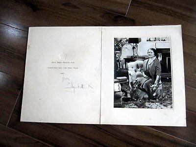 ELIZABETH, QUEEN MOTHER Autograph Signed Photo Card - British Royalty