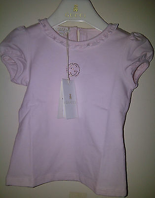 GUCCI KIDS - Girls PINK T-SHIRT, Size 18 / 24 Months (2 Years)