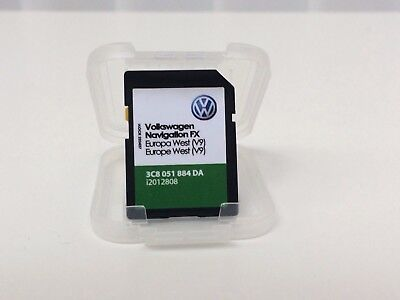 Vw Skoda Seat Rns 310 Amundsen V9 Sd Card Uk West Europe Map Update 2017/2018