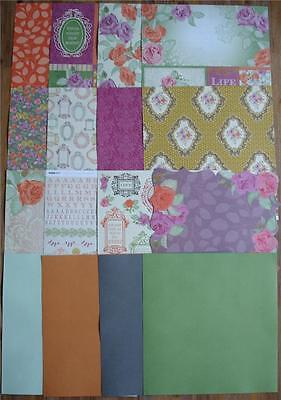"""BULK Papers Stickers Cardstock ~ Flora Delight ~ PACK 12""""x12"""" Scrapbooking Card"""