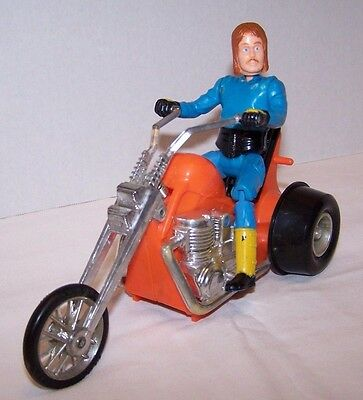 Vintage Kenner Ssp Cycle With Wild Riders Rockin' Rick With Guitar Chopper Rare