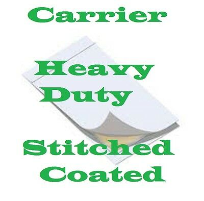 2 pk CARRIER SLEEVES Laminating LETTER/LEGAL Heavy Stitched Coated