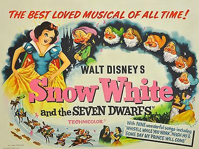 """Snow White and Seven Dwarfs 1937 16"""" x 12"""" Reproduction Movie Poster Photo 2"""