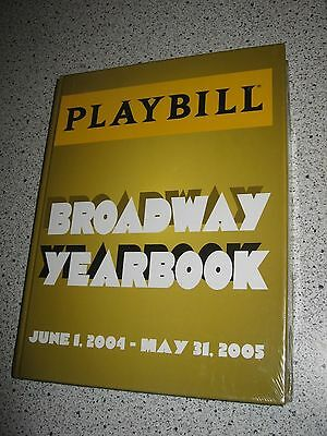 Playbill Broadway Yearbook Hardcover June 2004- May 2005 Sealed Collectible Book