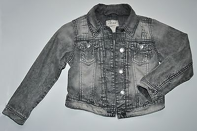 Next Girl Grey Jean Denim Jacket Age 7 Years Eur 122Cm Cotton