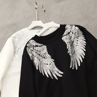 Patches Embroidery sew large wing Applique accessory jacket sweater coat Jeans