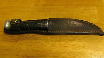 Vintage LL Bean Hunting Knife with Sheath, Freeport, Maine
